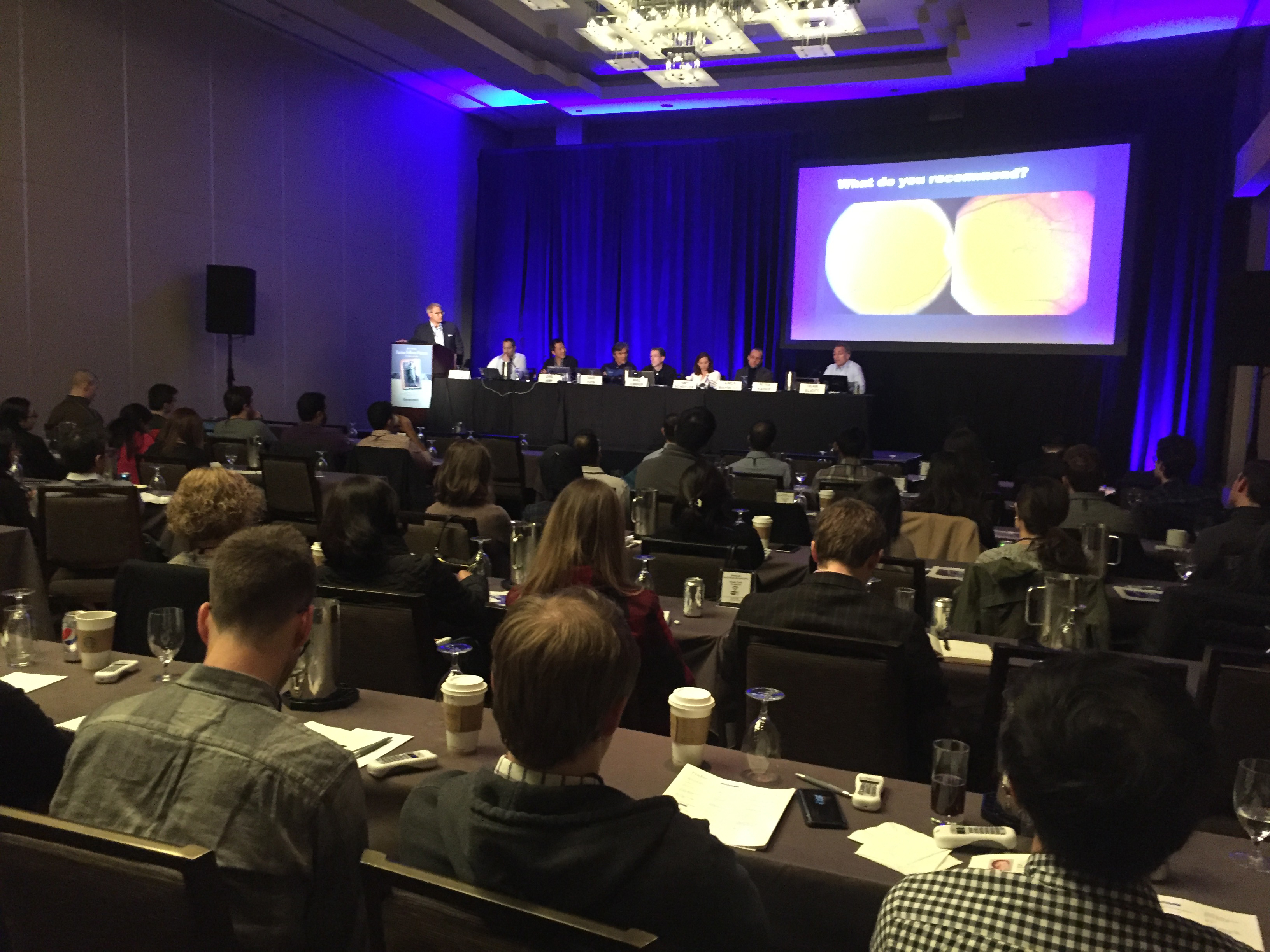 Peter Kaiser leading panel discussion of challenging AMD cases