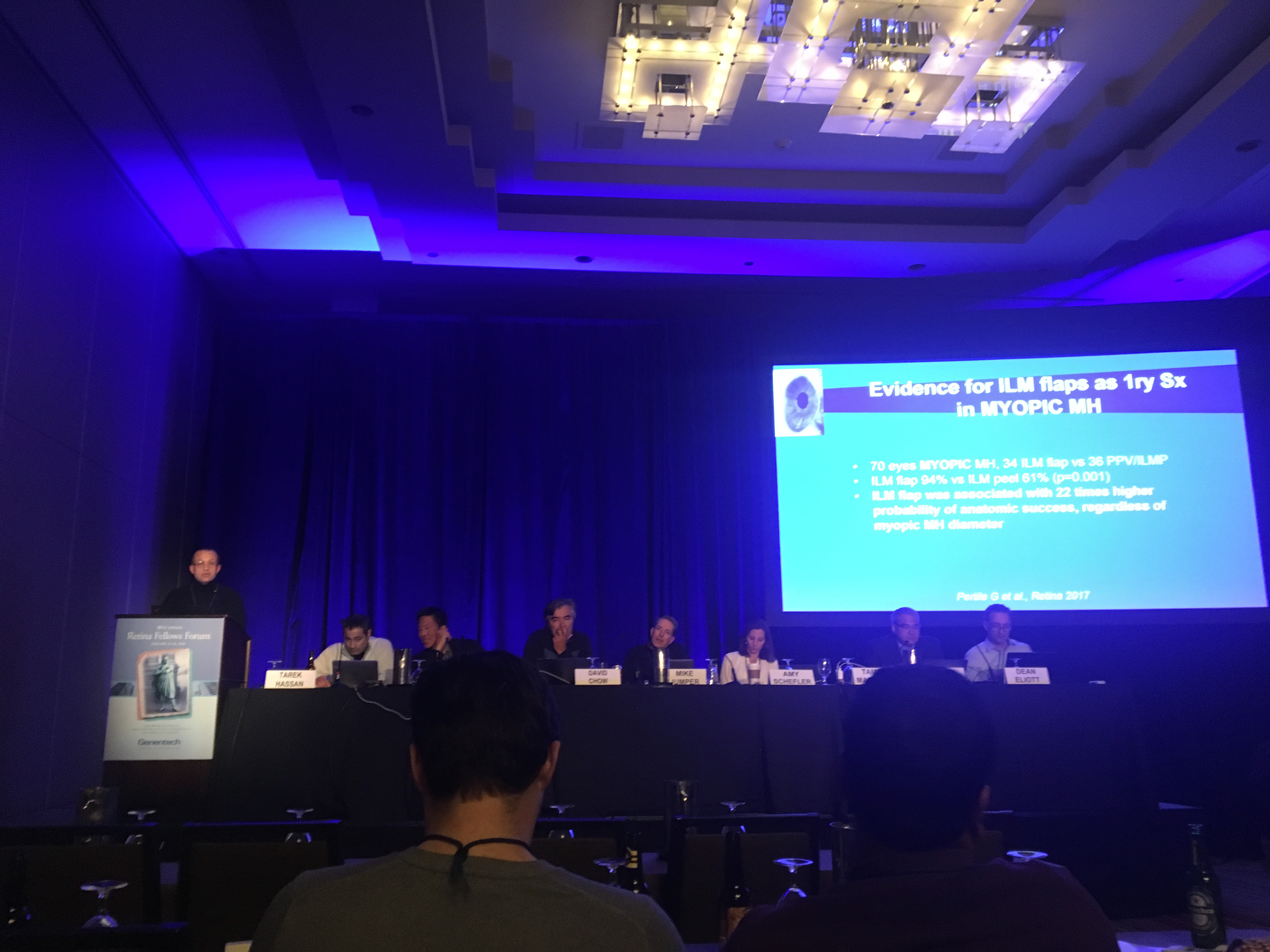 Tamer Mahmoud leading surgical panel on management of macular holes