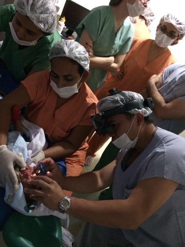 RVPC Examining Baby in Recife Brazil